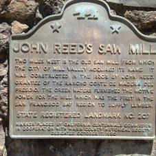 Historical marker, Mill Valley