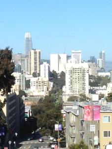 San Francisco skyline, St. Mary's Cathedral at center