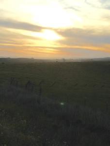 Sunset over Petaluma