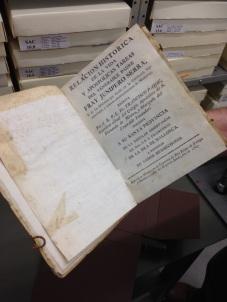 """An original of Fra Francisco Palóu's """"Relacion historica de la vida y apostolicas tareas del venerable padre Fray Junipero Serra"""""""