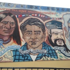 Mural, John H. Francis Polytechnic High School, Los Angeles